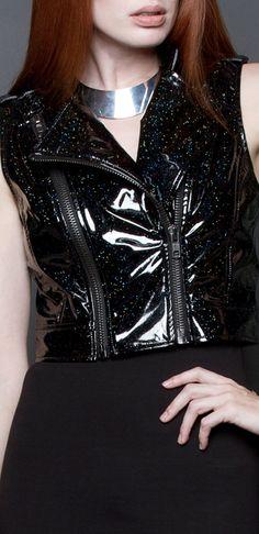 Rainbow in the Dark moto vest designed by Michelle Überreste. http://www.michelleuberreste.com
