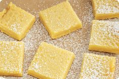 A recipe for deliciously citrusy vegan lemon bars from 'The Joys of Vegan Baking', featured in Issue 29 of Vegan Life  Makes: Sixteen 2-inch squares     Ingredients  Crust     	½ cup (112 g) vegan butter, at room temperature   	¼ cup
