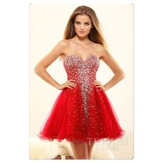 Terani Couture P3017 Red Party Dress This adorable blinged out dress has a tulle underlay and is in perfect condition!  See formal gown size chart in my closet for measurements. NO TRADESPrice Firmcant be bundled Terani Couture Dresses