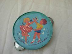 vintage Romanian tin toy tambourine imprint lithography 1960's   eBay Tambourine, Tin Toys, Vintage Antiques, Decorative Plates, Childhood, Memories, Ebay, Memoirs, Infancy