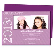 Graduation Announcements Templates : Printable DIY Allison Graduation Announcement Template