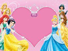 """""""Princesses"""": """"Assembly of Princesses"""" memo pad, as courtesy of Walt Disney Disney Princess Birthday Party, Birthday Parties, Baby Princess, 70th Birthday, Princesse Party, Disney Princess Invitations, Disney Princesses And Princes, Birthday Frames, Disney Frames"""
