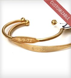 Personalized Cuff - Brass | Jewelry Bracelets | Jook & Nona | Scoutmob Shoppe | Product Detail