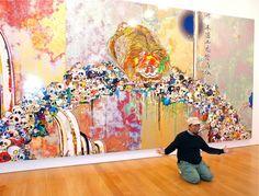 Renowned Japanese artist Takashi Murakami recently opened his latest exhibition of work titled Flowers & Skulls. If you can't make it to Hong Kong Superflat, Fondation Louis Vuitton, Takashi Murakami Prints, Murakami Artist, Dark Color Palette, Gagosian Gallery, Japanese Modern, Art Japonais, Types Of Painting