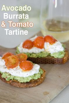 Avocado, Burrata and Tomato Tartine - What's Gaby Cooking