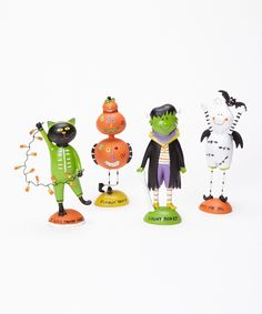 Look at this Ghoulish Figurine Set on #zulily today!