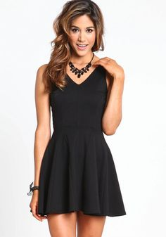 Little Black Skater Dress, Skater dresses are definitely some of my favorites!