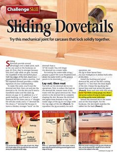 #757 Making Sliding Dovetails - Joinery Tips, Jigs and Techniques