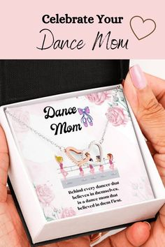 Let your special mom know how much you appreciate all of her support over the years with this beautiful message card necklace. The message card says: behind every dancer that believes in themselves, is a dance mom that believed in them first. #dancemom #dancemomgift #momnecklace #mother'sdayjewelry Unique Necklaces, Beautiful Necklaces, Mother Day Message, Double Heart Necklace, Message Card, Dance Moms, Working Moms, Mother Gifts, Appreciation