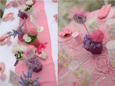 Raphaelle's Ballerina Themed Party – table Setup