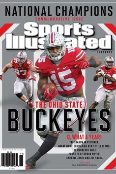 Ezekial Elliott #15, John Burroughs High School, St. Louis, Mo, helps the Buckeyes win the 2015 College Football National Championship by beating Oregon 42-20!