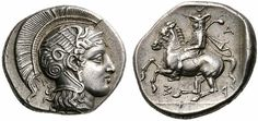 G436 An Exceptional Greek Silver Drachm of Pharsalos (Thessaly), Signed by the Engraver Telephantos, of Magnificent Style | Flickr - Photo Sharing!