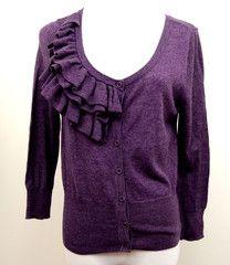 Pink Rose Purple Sweater Size S