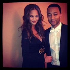Chrissy Teigen and John Legend...one of my favortie celeb couples!