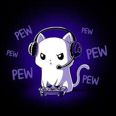 Pew Pew Kitty and like OMG! get some yourself some pawtastic adorable cat apparel!