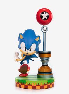 Sonic the Hedgehog Green Hill Zone Diorama Statue - Entertainment Earth Hedgehog Birthday, Sonic Birthday, 8th Birthday, Birthday Parties, Number Of The Beast, Leo, Speed Of Sound, Visual Aesthetics, Dynamic Poses