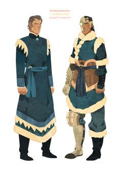 I draw about their full body . Noatak without wearing cloak. Tarrlok's waist has specially decorated. Their hair was gray and i think it is cool.