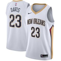 10d310500 Anthony Davis New Orleans Pelicans Nike Swingman Jersey White - Association  Edition