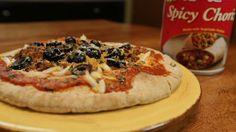 Vegan Chorizo Pita Pizzas