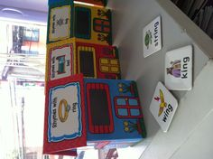 Rhyming word houses for teaching Letters and Sounds Phase 1.