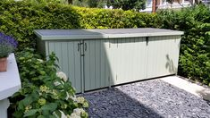 Beautiful wooden bike shed with additional wheelie bin storage only at The Bike Shed Company!