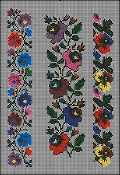 Gallery.ru / Фото #6 - Без названия - 753159 Cross Stitch Bookmarks, Cross Stitch Borders, Cross Stitch Flowers, Cross Stitch Designs, Cross Stitch Patterns, Hand Embroidery Stitches, Embroidery Techniques, Ribbon Embroidery, Cross Stitch Embroidery