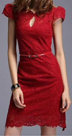 Little | Red Lace Dress.  dresslily.com