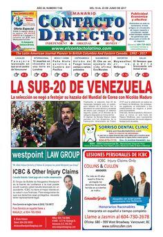 SEMANARIO CONTACTO DIRECTO EDICIÓN  16/06/2017