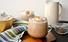 Mexican Spiced Hot Cocoa + Homemade Cinnamon Whipped Cream Recipe by Simply Scratch Mexican Hot Chocolate, Homemade Hot Chocolate, Homemade Vanilla, Cocoa Cinnamon, Peppermint Mocha, Healthy Peanut Butter, Chocolate Chunk Cookies, Tasty Kitchen, Holiday Drinks