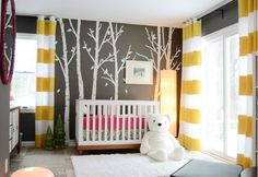 Love this redesign for the nursery!!  Simple projects, mostly paint made a beautiful difference.  Reader Redesign: Woods & Wellies | Young House Love