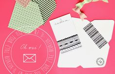 carte / graphisme / diy / courrier