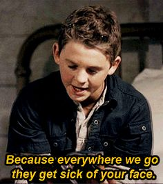 Young Dean to young Sam when he asks why they're always moving. SUCH an older sibling response. #Supernatural