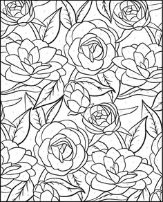Creative Haven Floral Designs Paint by Number Welcome to Dover Publications