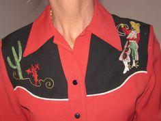 1940s 1950s Vintage Gabardine Western Swing Rockabilly Women's Shirt | eBay Nathan Turk