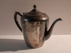 Silver on Copper Teapot by F B Rogers Silver by WesternKyRustic