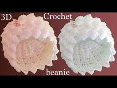 Bolso Crochet - Gorro a Crochet pañuelitos en punto tunecino tejido tallermanualperu Crochet Flower Hat, Crochet Cap, Crochet Fabric, Crochet Baby Hats, Crochet Gifts, Crochet Motif, Crochet Stitches, Boho Crochet, Crochet Toys
