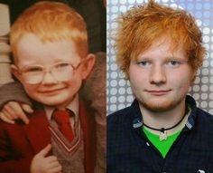 Aww baby Ed Sheeran! i really want a ginfer little boy as my first child