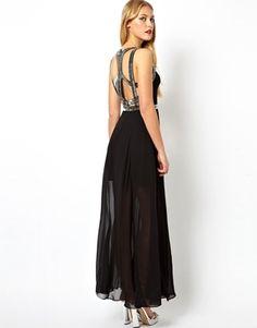ASOS Embellished Strap Back Maxi Dress