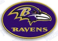 Baltimore Ravens - iron on 100% embroidered embroidery patches patch - nfl football 2.4 X 1.6 INCHES racing