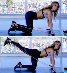 BEST resistance band move to target your glutes!!