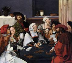 """Card Players,"" Lucas van Leyden (1494-1533) [Public domain], via Wikimedia Commons"