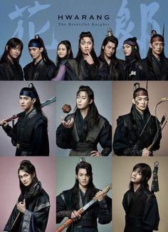 Hwarang: The Beginning EngSub Korean Drama - ViewAsian Korean Drama Funny, Korean Drama Movies, Cute Korean, Korean Dramas, Asian Actors, Korean Actors, Korean Celebrities, Taehyung Hwarang, V Hwarang