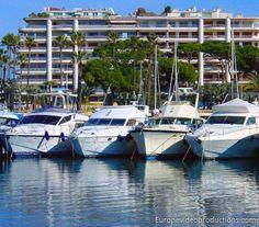 Boote in Cannes an der französischen Riviera