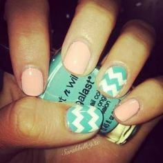 chevron nail design - get creative with this season's fashion colors