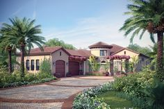 ePlans Mediterranean House Plan – Old World Courtyard Villa– 3433 Square Feet and 3 Bedrooms from ePlans – House Plan Code HWEPL76165