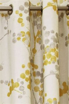 Elissia Next Yellow And Grey Curtains