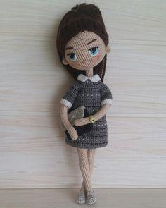 Elena Zonova's photos – 247 photos | VK Amigurumi Doll, Amigurumi Patterns, Doll Patterns, Crochet Patterns, Knitted Dolls, Crochet Dolls, Cute Crochet, Crochet Baby, Human Doll