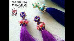 Coppetta per  nappina e perno - YouTube Handmade Jewelry Tutorials, Beading Tutorials, Tassel Jewelry, Beaded Jewelry, Beaded Earrings, Beaded Bracelets, Glands, Earring Tutorial, Homemade Jewelry