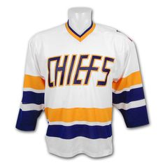 35f297023 Charlestown Chiefs white jersey from the movie