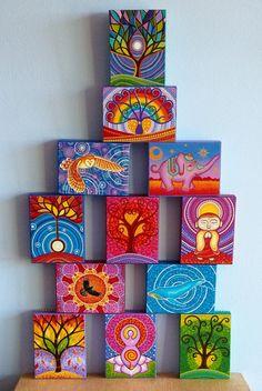 Beautiful little pieces of art!! Artist:Elspeth McLean Regal Elephant- Wood Block Print Art. $9.50, via Etsy.
